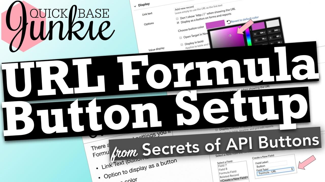 How to setup a URL Formula Button in Quickbase