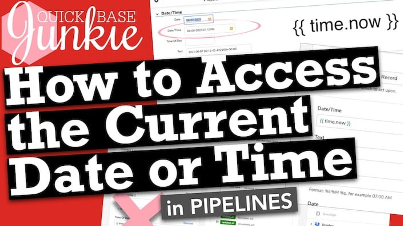How to Access the Current Date or Time in Pipelines