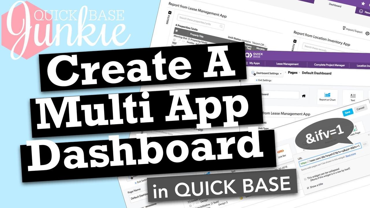 Create Multi App Dashboards in Quickbase