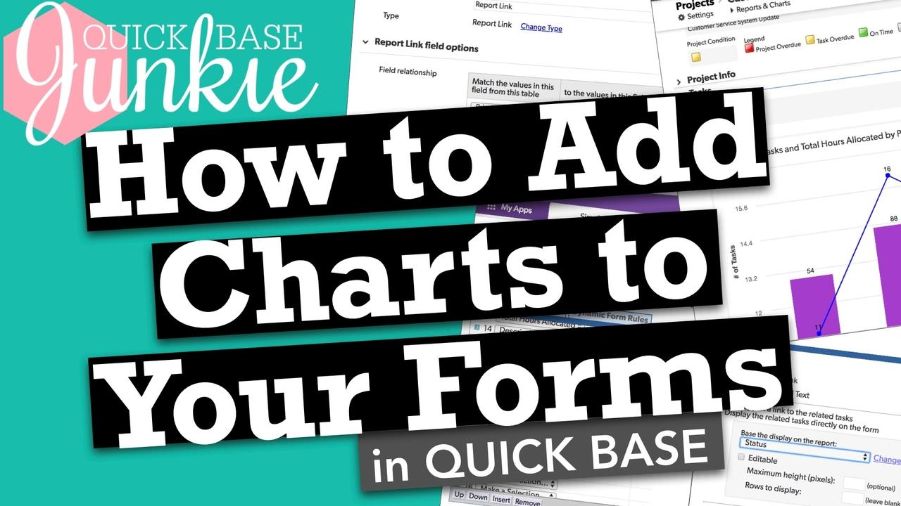 How to add charts to your forms in Quickbase