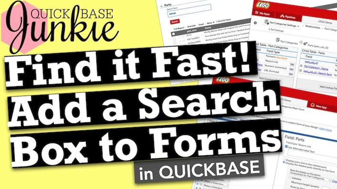 How to add search to your forms in Quickbase
