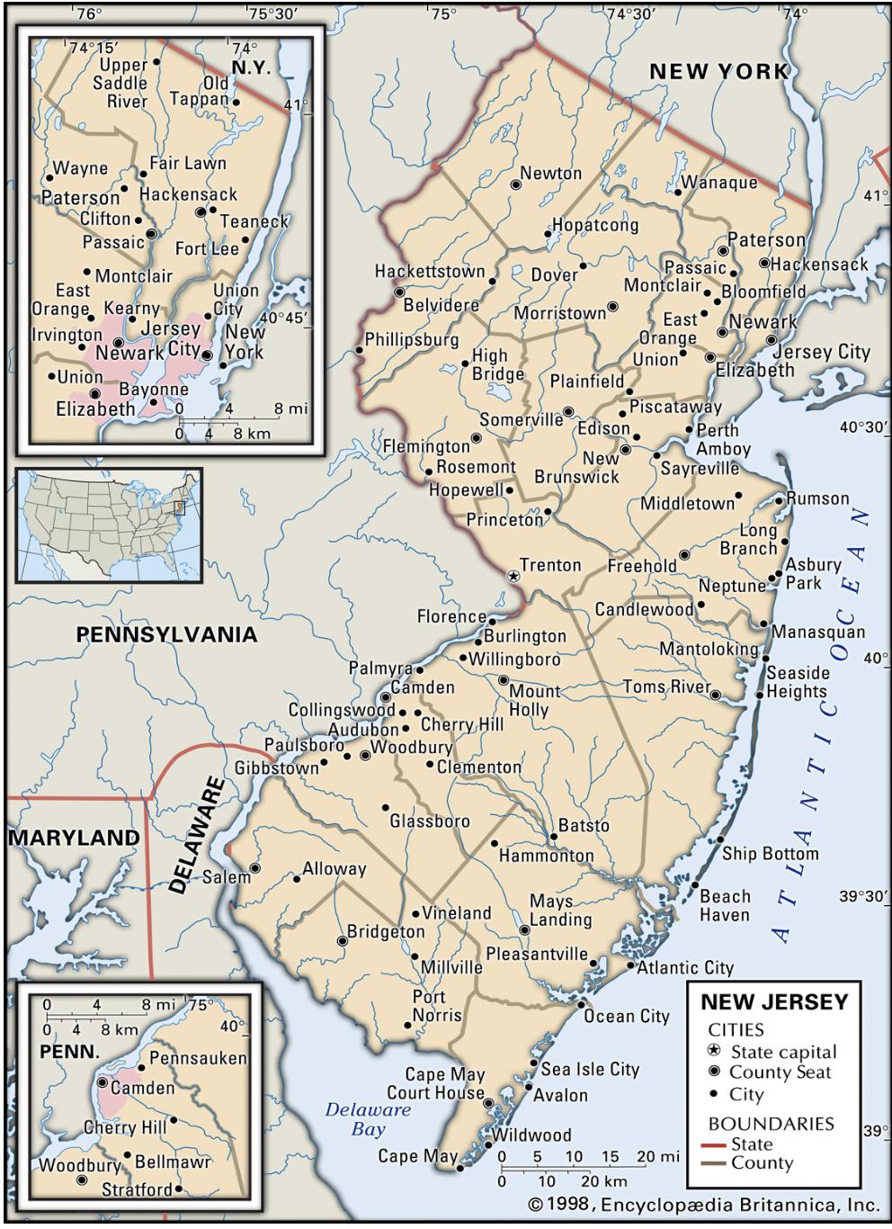 New Jersey Map Wholesaling