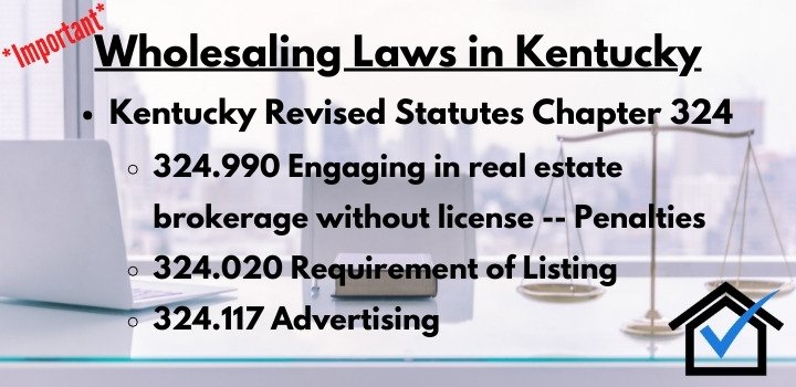 wholesaling laws Kentucky