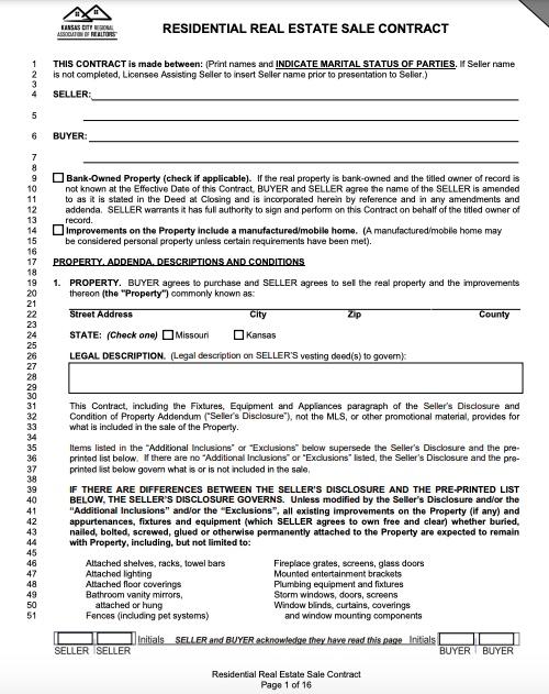 Kansas wholesale real estate contract