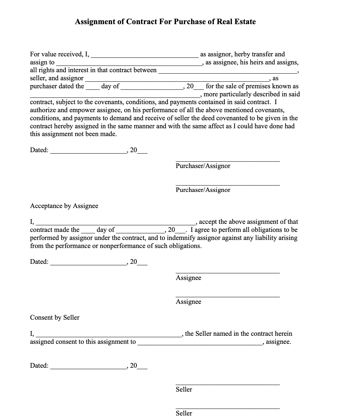 Tennessee real estate contract