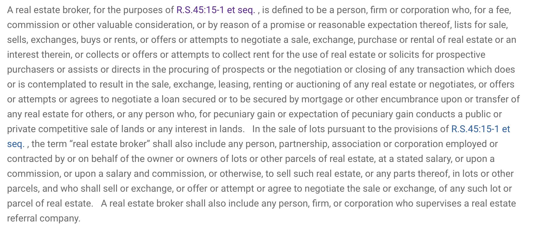 New Jersey real estate broker