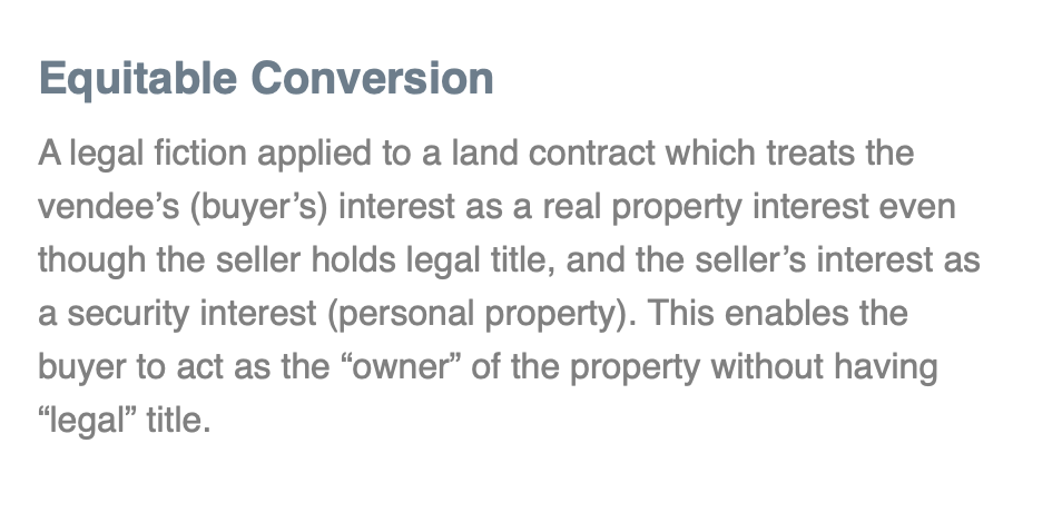Equitable Conversion Tennessee