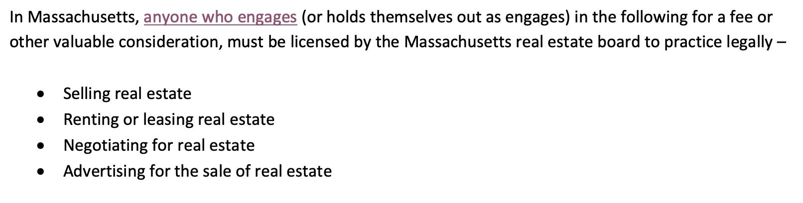 Massachusetts real estate law