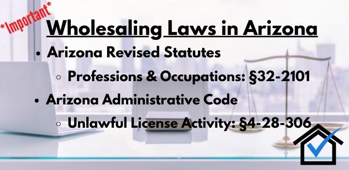 Wholesaling Laws Arizona