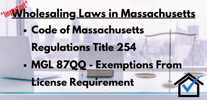 wholesaling laws massachusetts