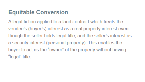 Hawaii real estate equitable conversion