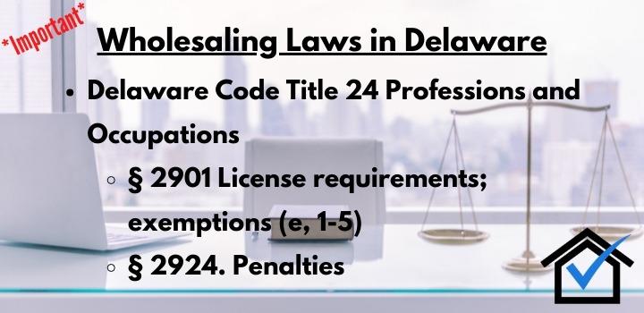 wholesaling laws Delaware