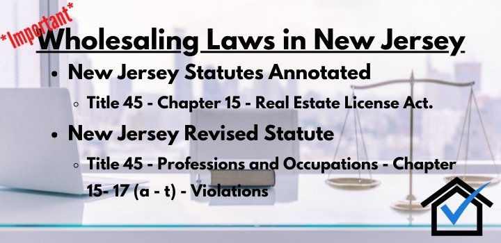 wholesaling laws New Jersey