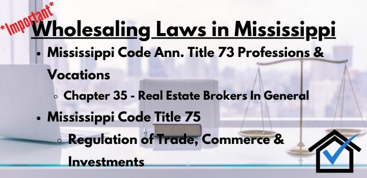 wholesaling laws Mississippi