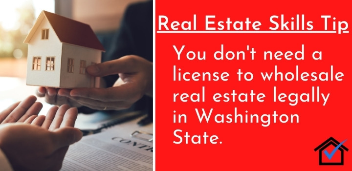 License to wholesale real estate legally in washington state