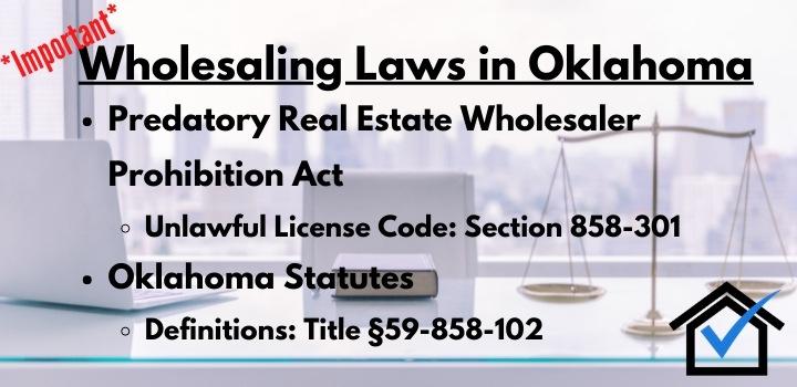 Wholesaling laws Oklahoma