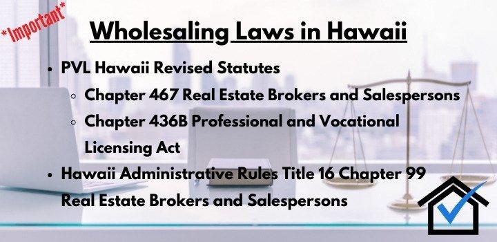 wholesaling laws hawaii