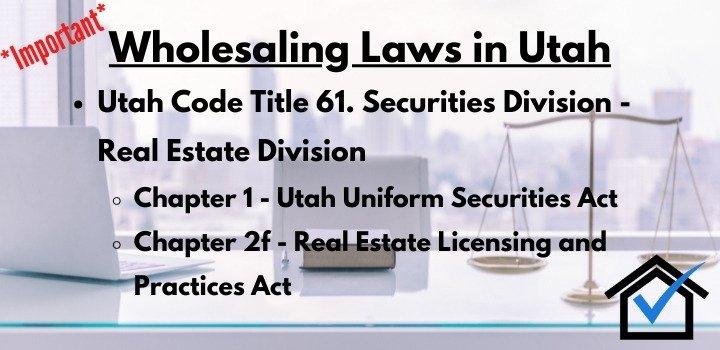 wholesaling laws Utah