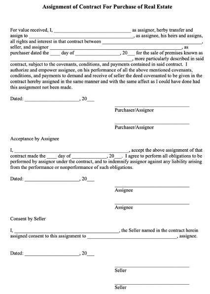Wholesaler Assignment Contract Pennsylvania
