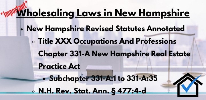 wholesaling laws New Hampshire