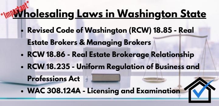 wholesaling laws washington state