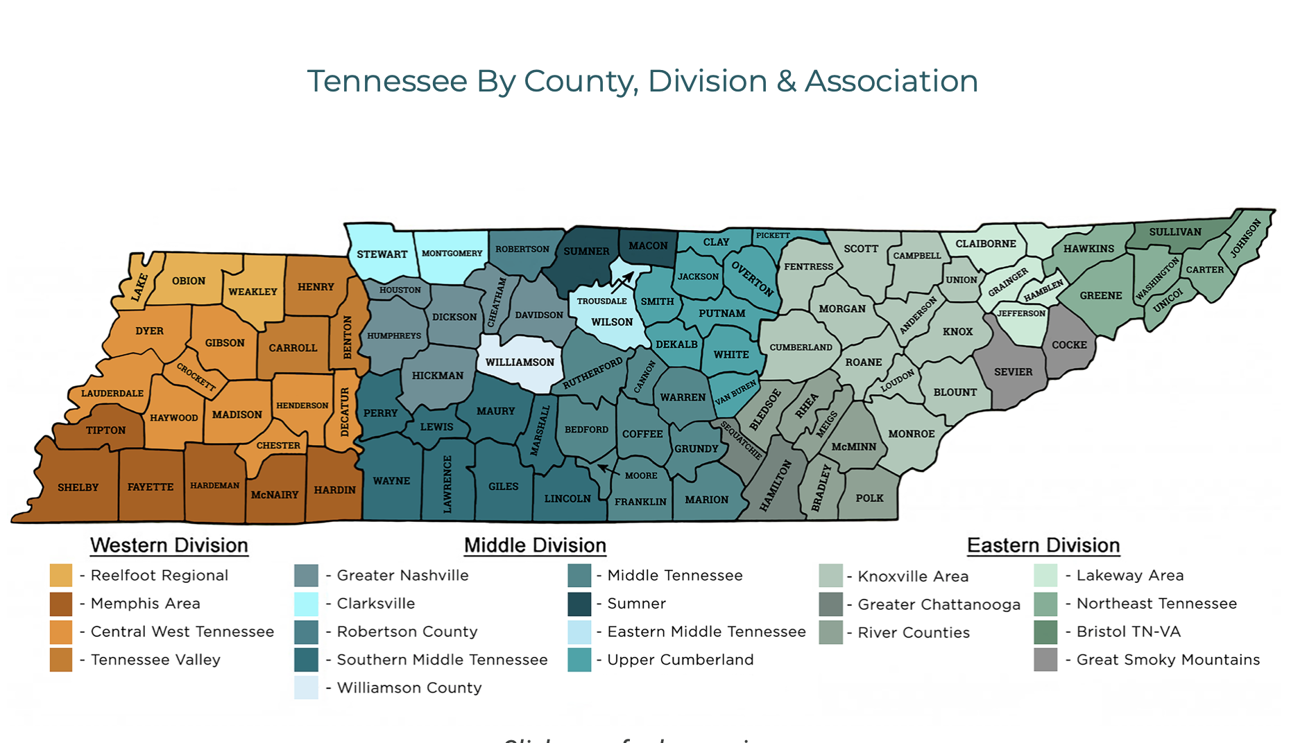 Tennessee Real Estate map