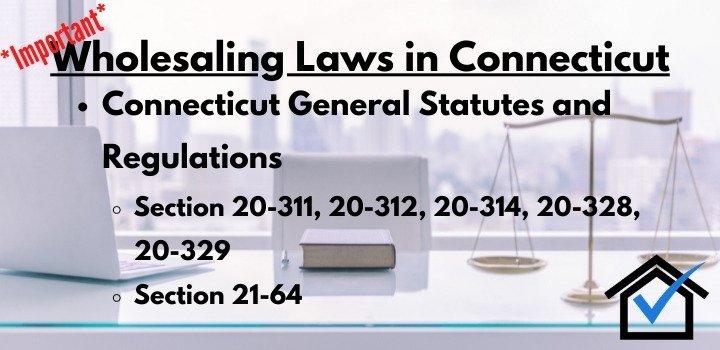 wholesaling laws Connecticut