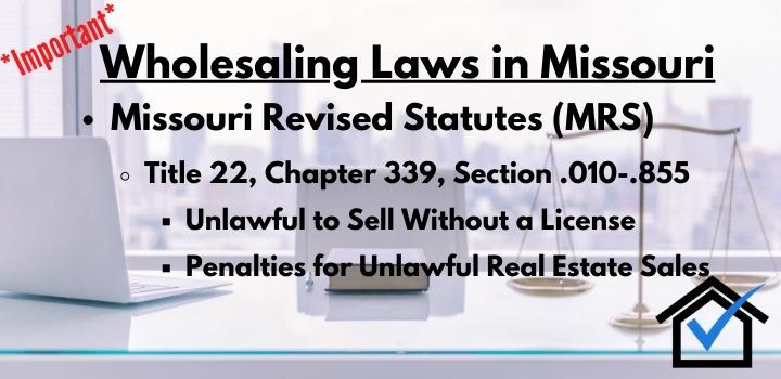 wholesaling laws Missouri