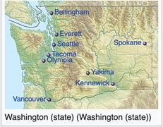 Washington state real estate map