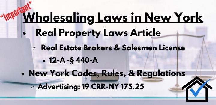 Wholesaling Laws New York