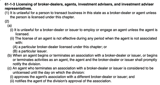 is wholesaling real estate legal in utah