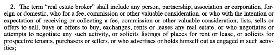 oklahoma real estate broker definition