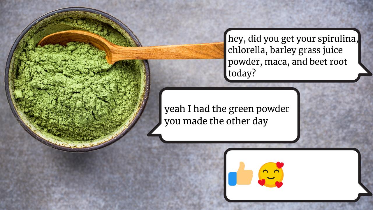 spirulina, bulk green powder, beet root, spirulina, maca, barley grass root
