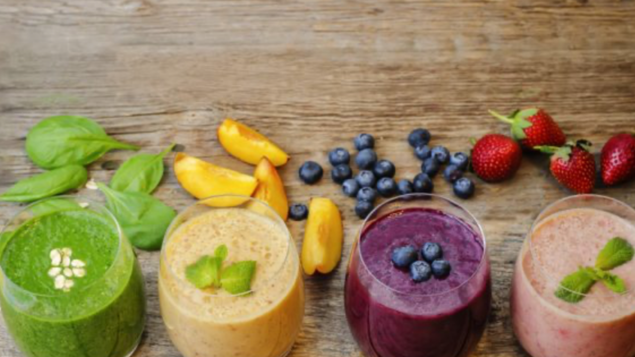 vegetable and fruit smoothies with watermelon