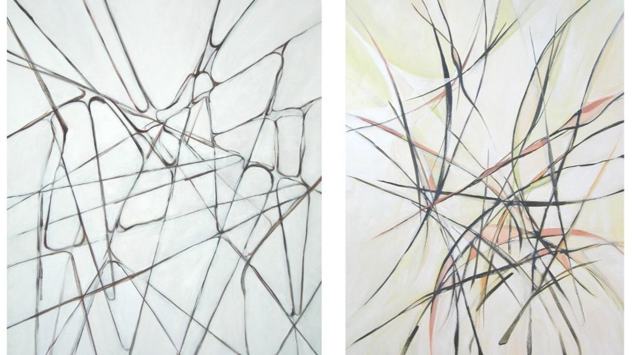 oil paintings inspired by Vieira da Silva