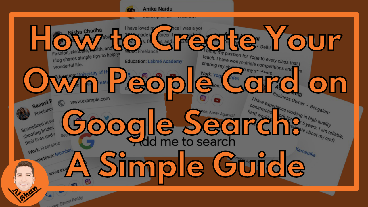 How to create your own People Card on Google Search: A Simple Guide