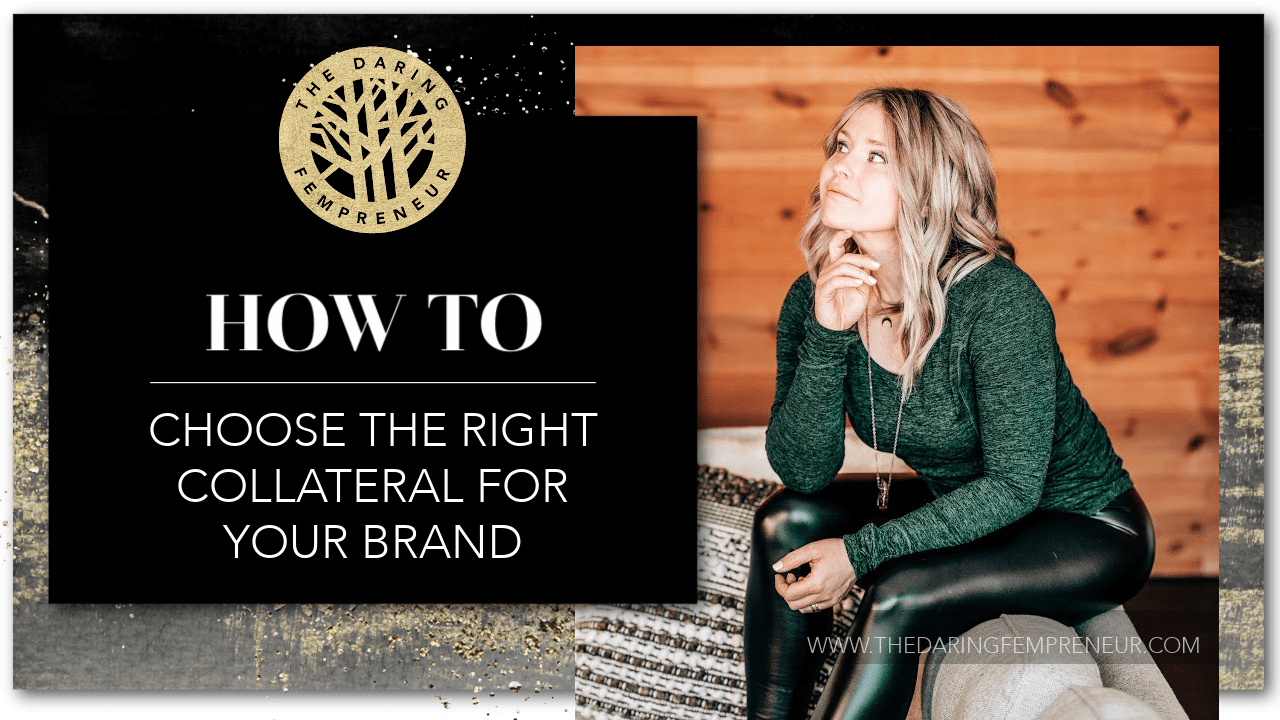 how to design and choose collateral for your brand