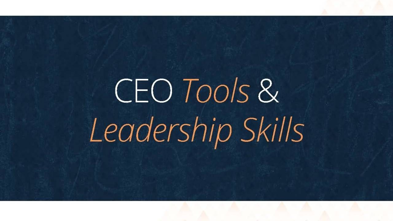 CEO Tools and Leadership Skills