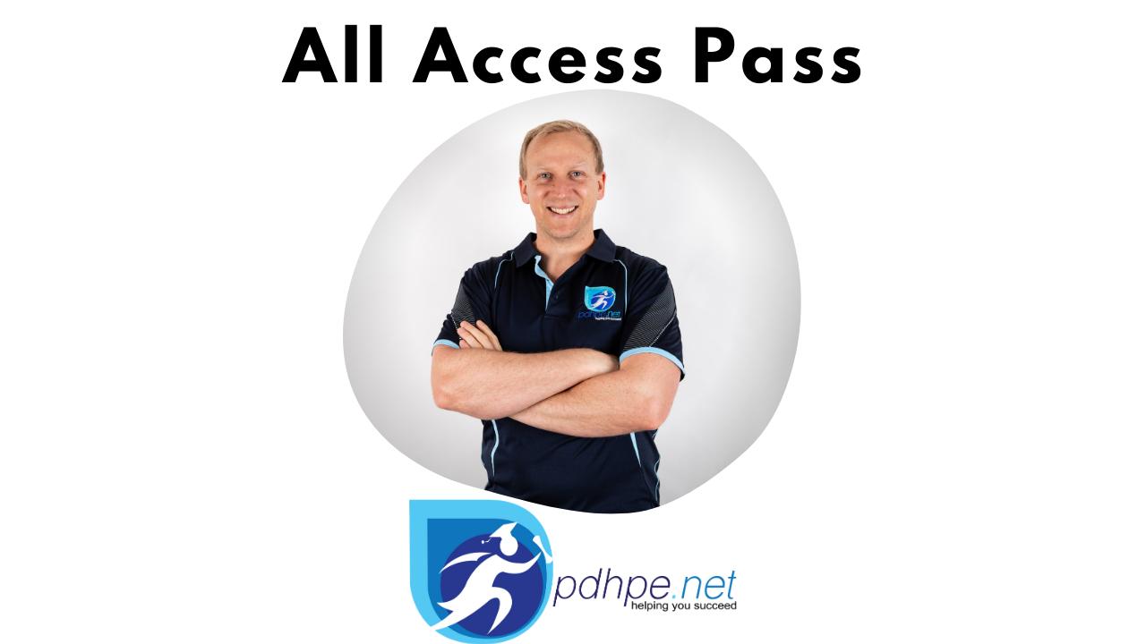 Riv5etvsslireofscxly all access pass pdhpe