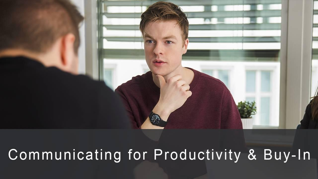 Mornwzpdswmqiindxixb communicating for productivity buy in