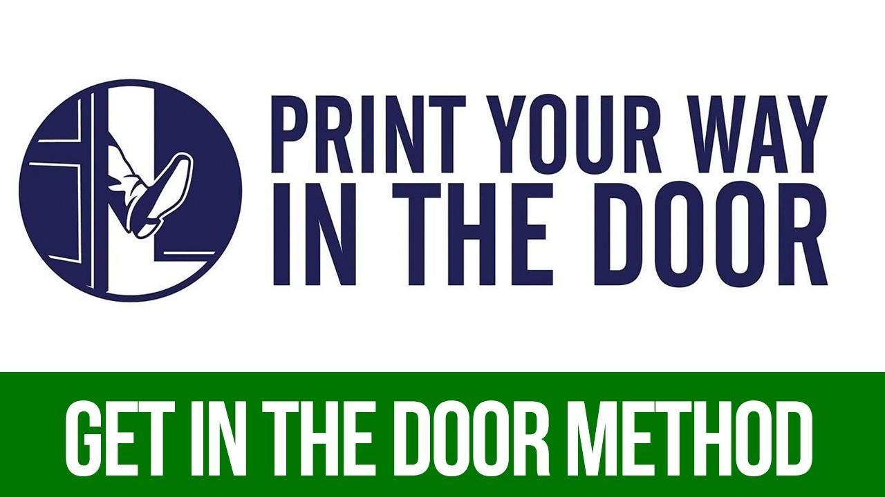 Z7wxr8e8th2u1mxzehgb print your way in the door course logo