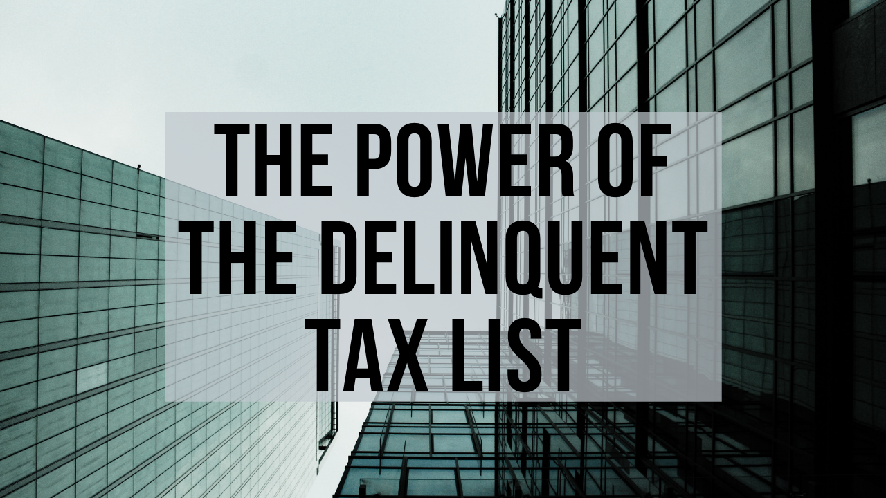 Mea2y4rtnwolc19bu023 the power of the delinquent tax list