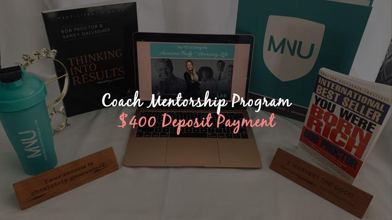 Efxavawvsa6flgfcwaha 400 down payment   coach mentor program