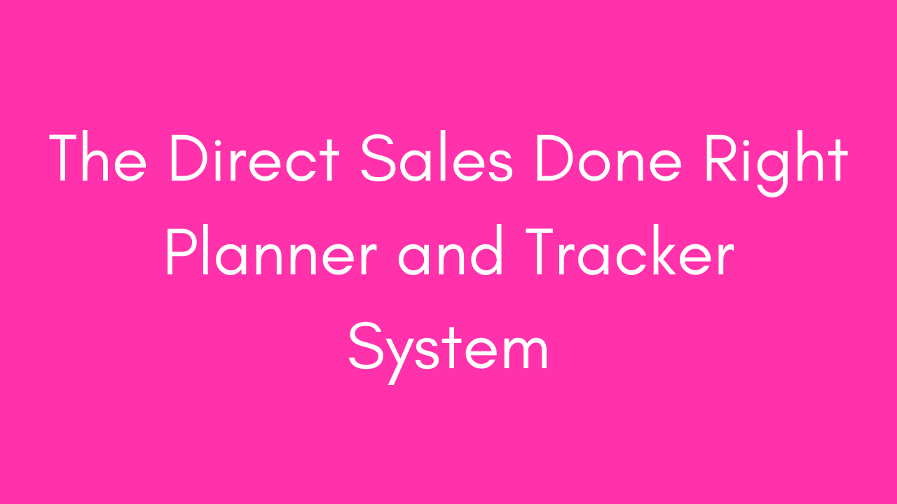 P3x6ssls3eohqvtitzwy  the direct sales done right planner and tracker system