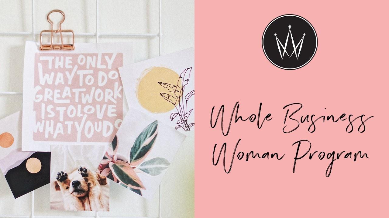 Kjsdgkdwswkuspkrrm7h whole business woman program