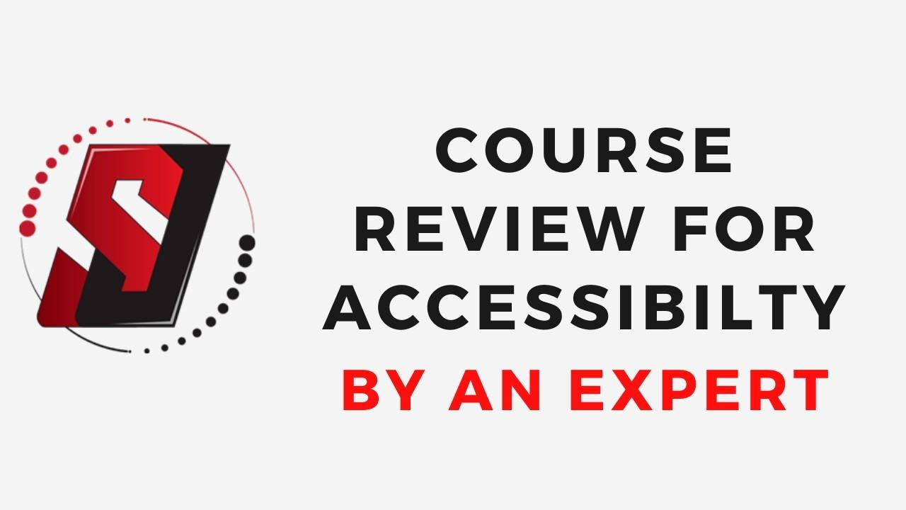 Course Review for Accessibility