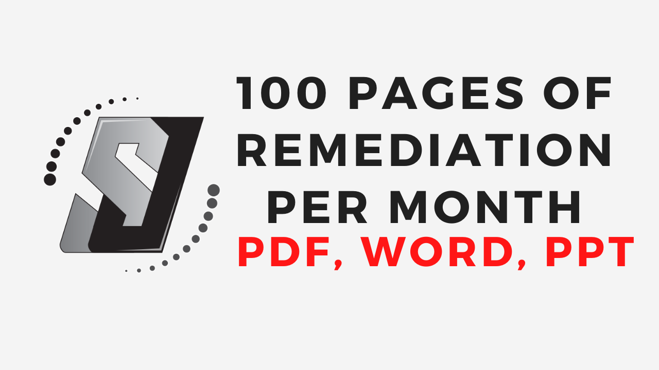 100 accessible pages per month