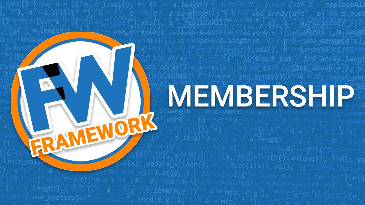 Kwmkmdyjsqowfn1ckdzk framework membership
