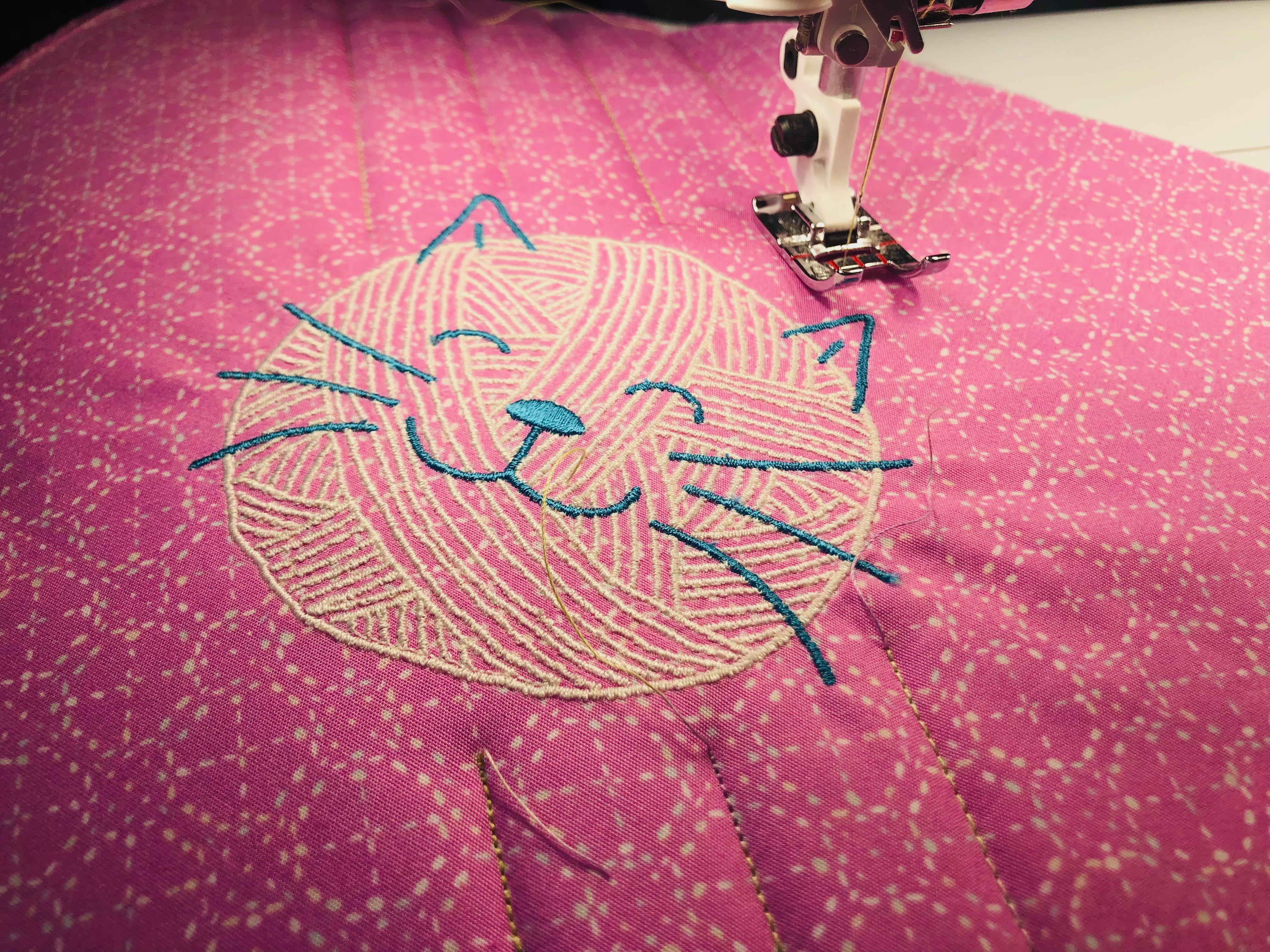 yarn cat embroidery