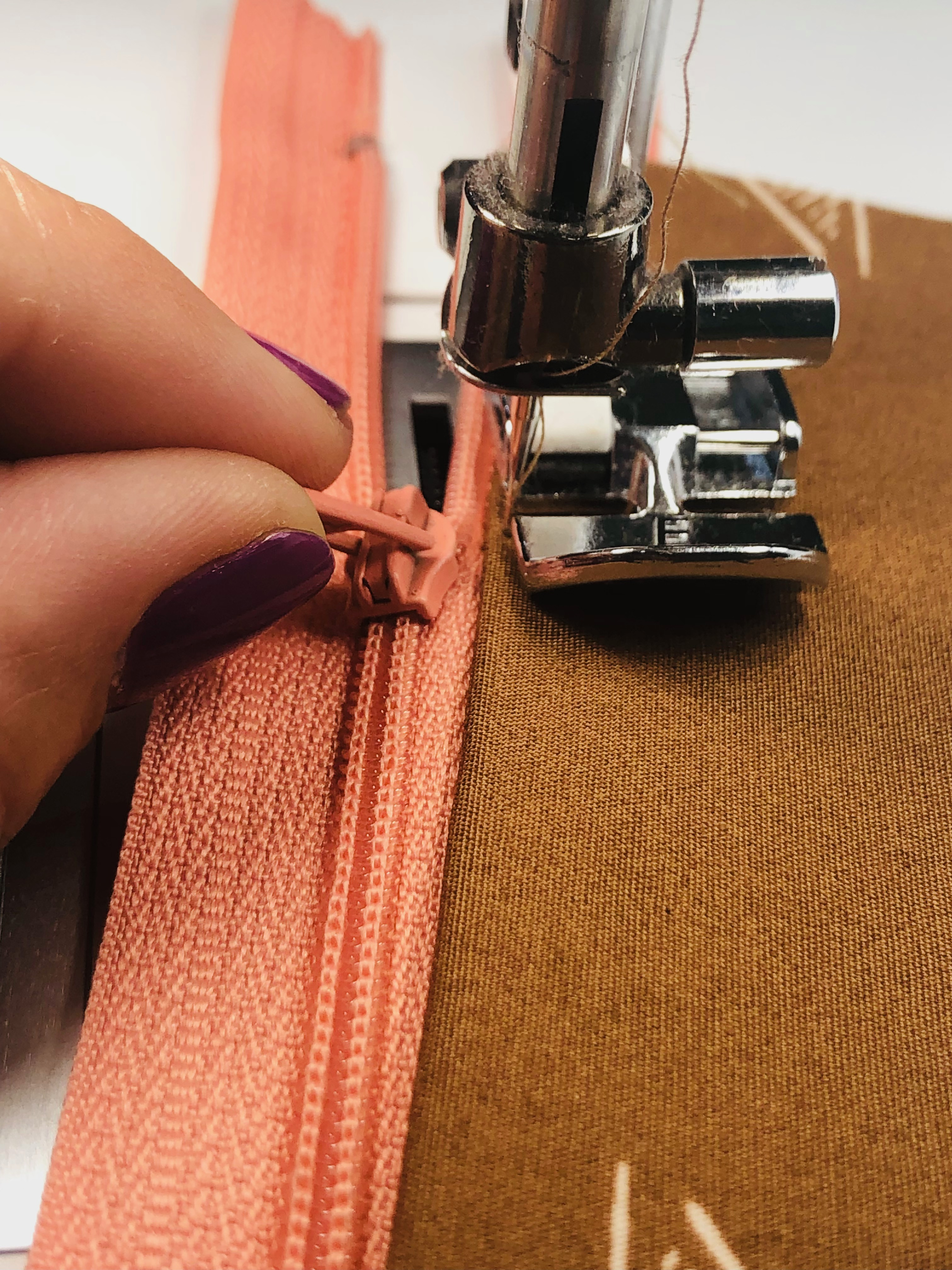 zipper tips for organizer project